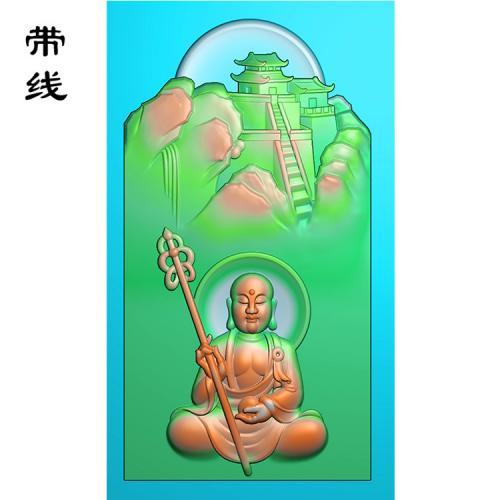 仿古龙牌地藏王精雕图(DZW-008)