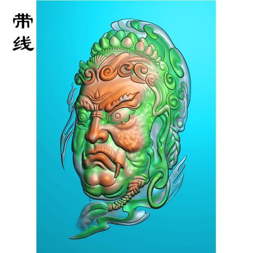 不动明王头像精雕图(DMW-006)