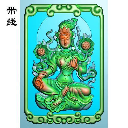 46牌绿度母精雕图(DM-001)