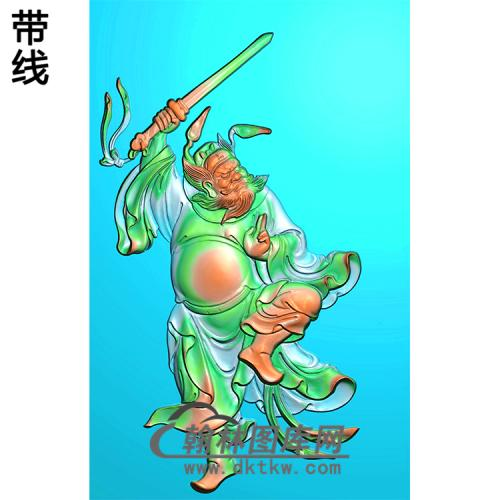 赐福镇宅钟馗挂件精雕图(ZK-027)