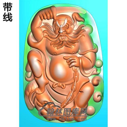 钟馗挂件精雕图(ZK-045)
