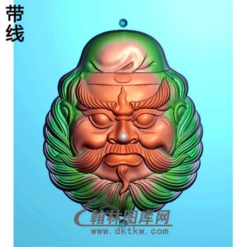 钟馗头挂件精雕图(ZK-025)