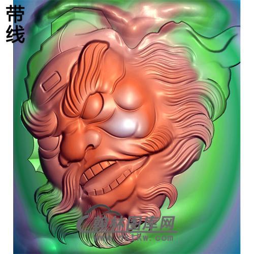 钟馗头像挂件精雕图(ZK-035)