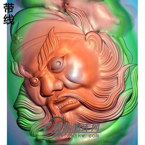 钟馗头像挂件精雕图(ZK-040)