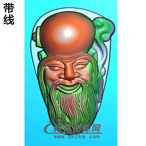 寿星头挂件精雕图(SX-016)