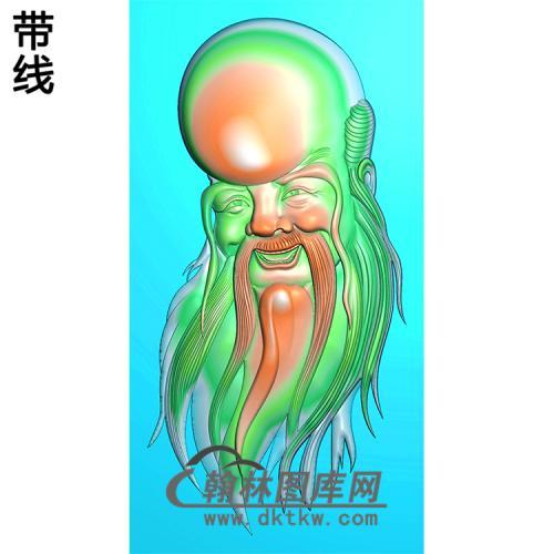 寿星头挂件精雕图(SX-015)