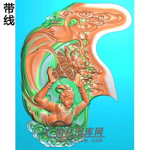 花仙子美女挂件精雕图(SV-021)