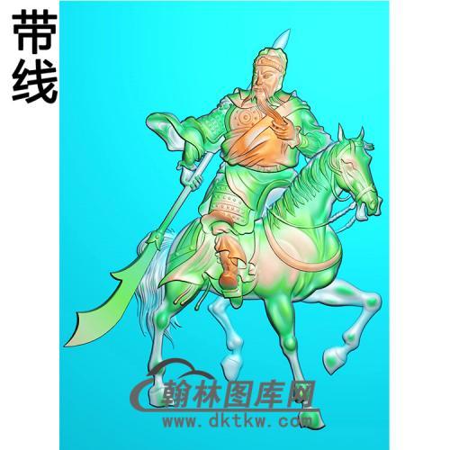 骑马关公精雕图(CG-133)
