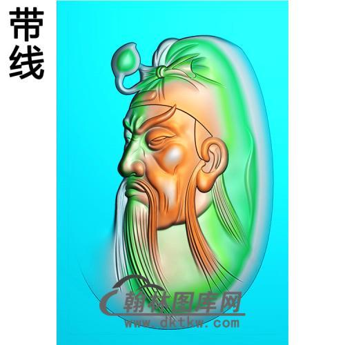 侧脸关公精雕图(CG-167)
