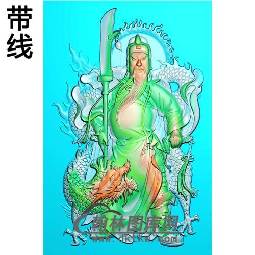 盘龙关公精雕图(CG-180)