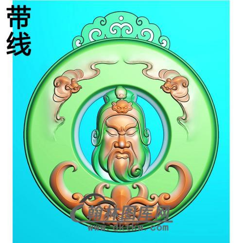 圆形关公精雕图(CG-202)