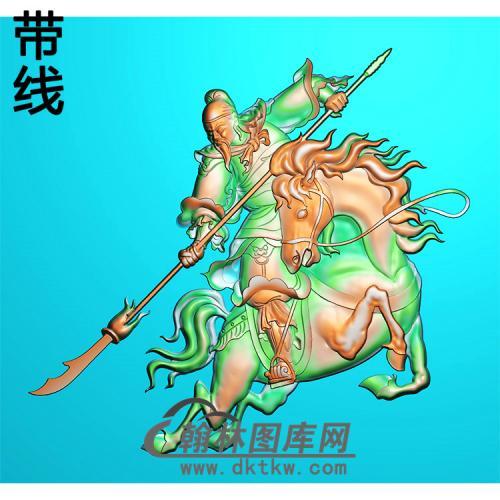 关公骑马精雕图(CG-206)
