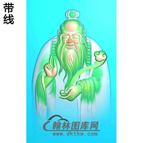财神爷挂件精雕图(CS-097)