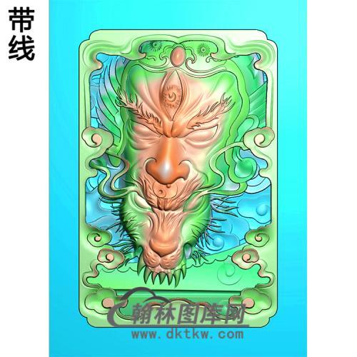 二郎神挂件精雕图 (1)(CS-113)