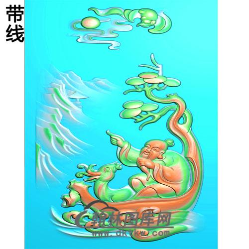 福禄寿挂件精雕图(CS-120)