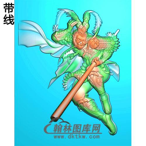 孙悟空猴子大王挂件精雕图(CS-103)