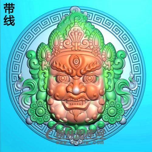 黄财神精雕图(CS-033)