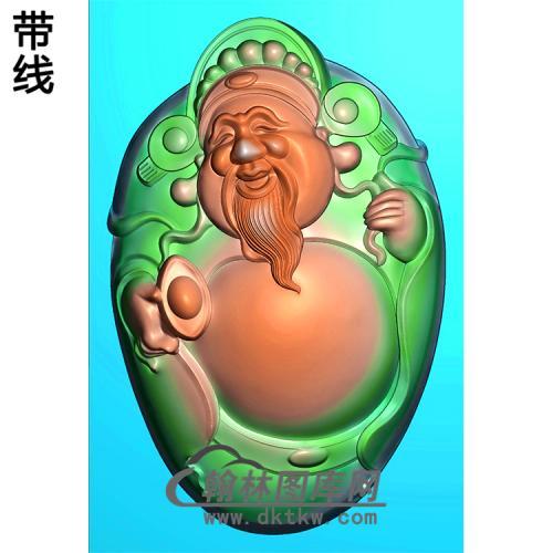 元宝财神浮雕图(CS-054)