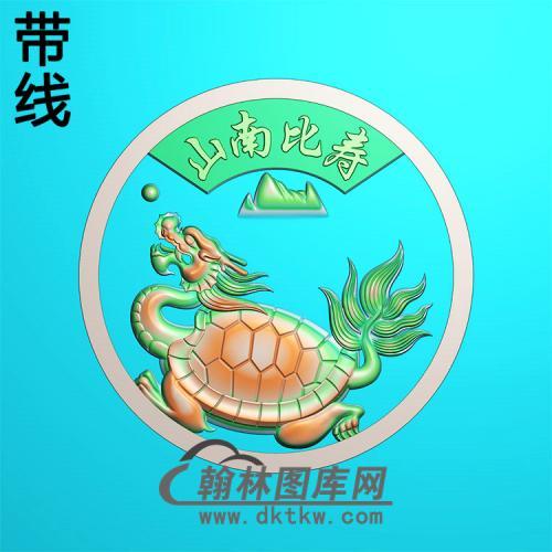 龙龟平安扣精雕图(PAK-216)
