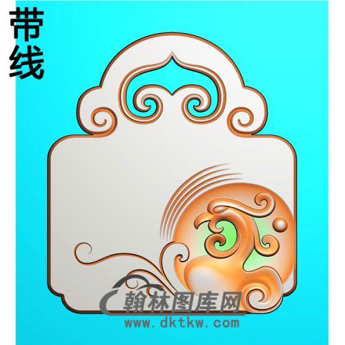 凤平安锁精雕图长命锁精雕图(CMS-136))