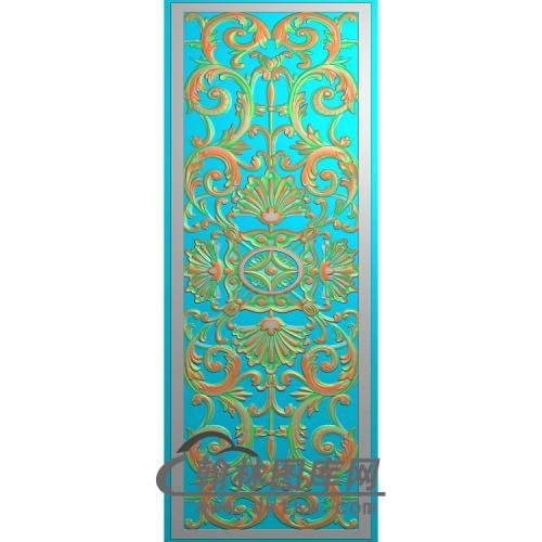 铝雕镂空洋花无线精雕图(TM-0048)