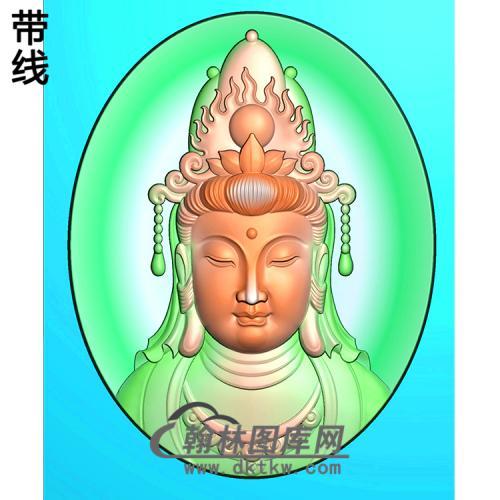 精品观音菩萨头精品挂件精雕图(BGY-557)