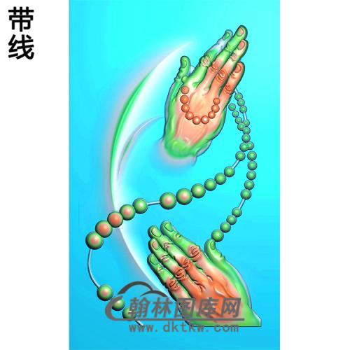 观音佛手挂件浮雕图(FS-028)