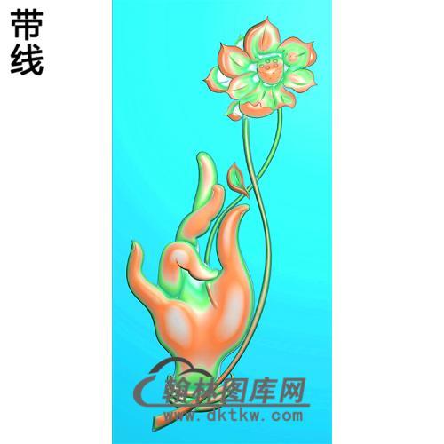 莲花佛手浮雕图(FS-037)