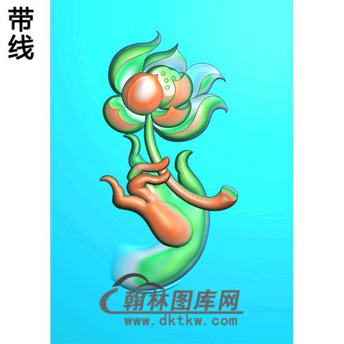 莲花佛手浮雕图(FS-038)