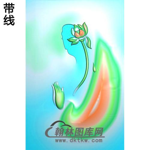 莲花佛手浮雕图(FS-040)