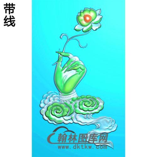 莲花佛手浮雕图(FS-041)