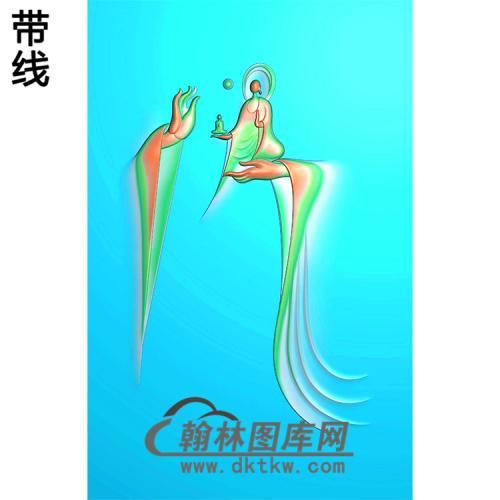 观音佛手浮雕图(FS-043)