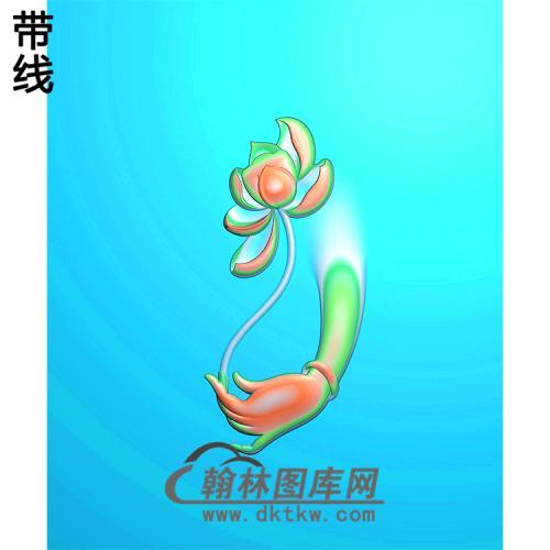 莲花佛手浮雕图(FS-044)
