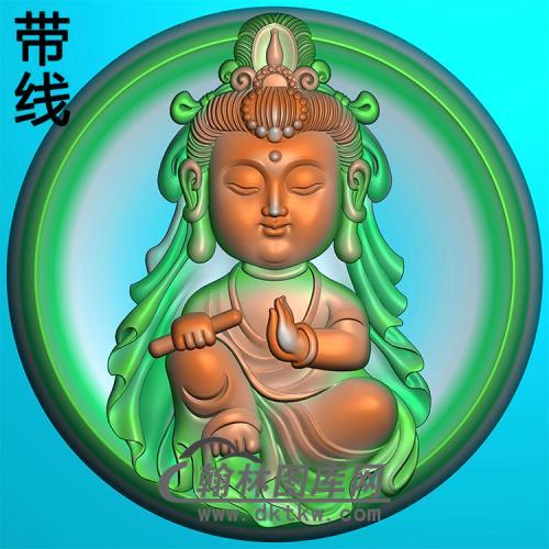 圆凹底宝宝观音精雕图(IGY-015)