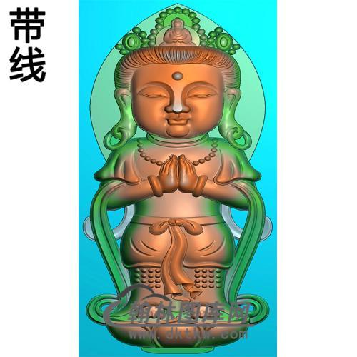 宝宝观音精雕图(IGY-017)