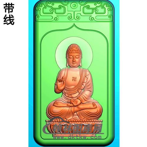 坐姿佛像精雕图(ZFX-119)