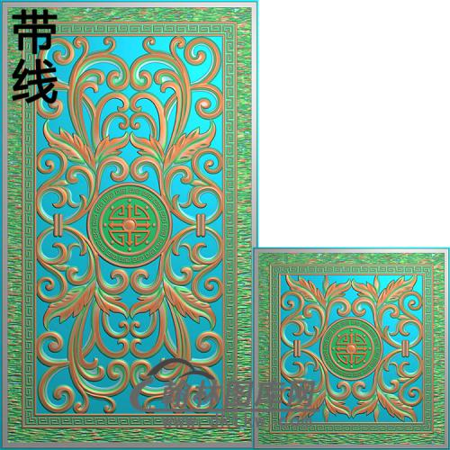 洋花铝雕精雕图(TM-289)