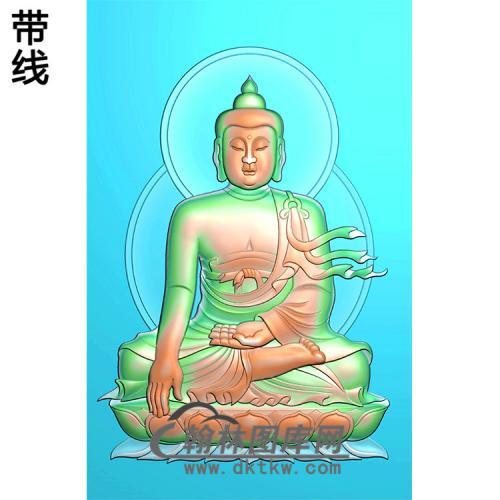 莲花坐姿佛像精雕图(ZFX-161)