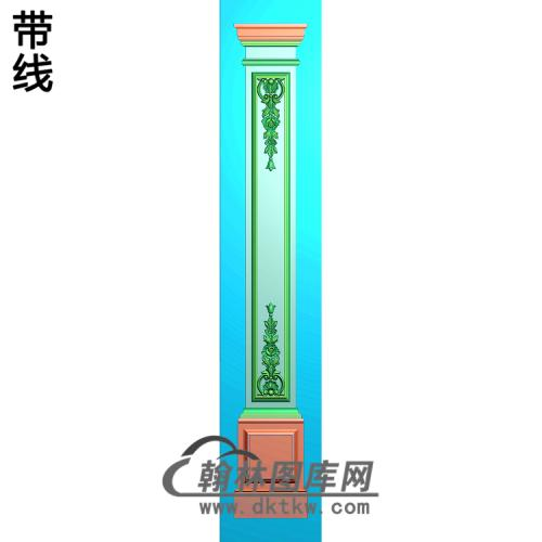 洋花柱板精雕图(ZB-034)
