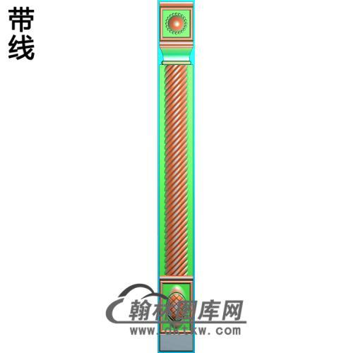 柱板麻花精雕图(ZB-035)