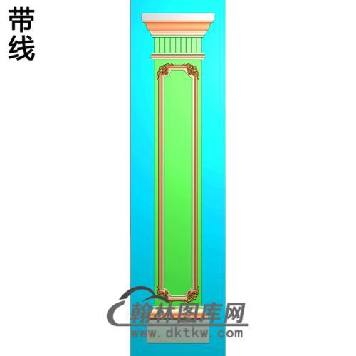 洋花柱板精雕图(ZB-036)