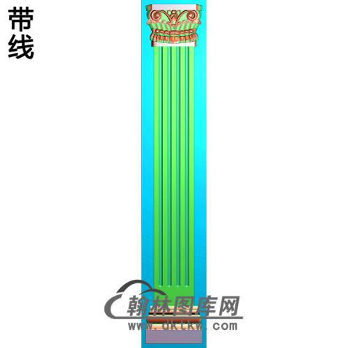 洋花柱板精雕图(ZB-037)