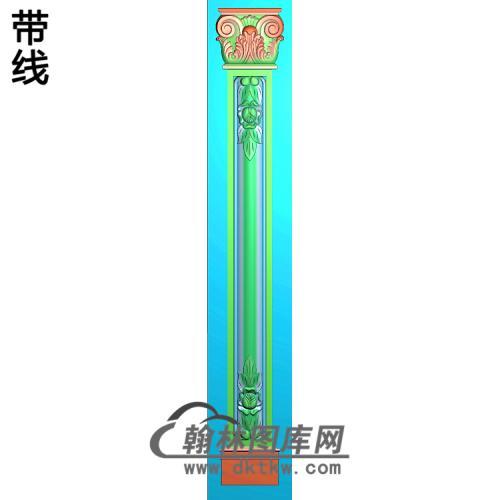柱板洋花精雕图(ZB-038)