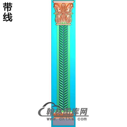 柱板洋花精雕图(ZB-039)