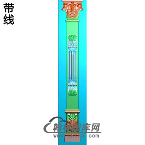 柱板洋花精雕图(ZB-040)