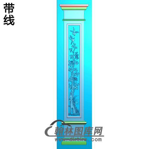 花鸟柱板精雕图(ZB-043)
