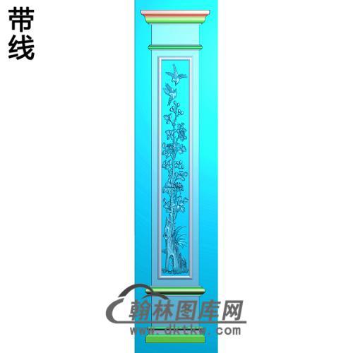 花鸟柱板精雕图(ZB-046)