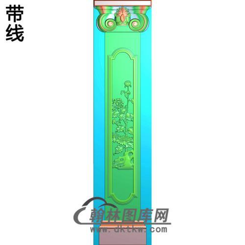 菊花柱板精雕图(ZB-047)