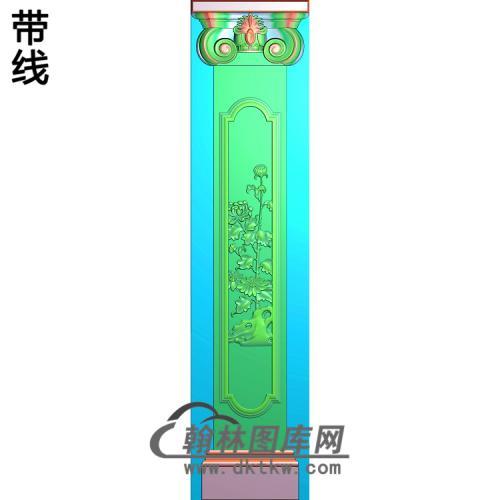 菊花柱板精雕图(ZB-048)