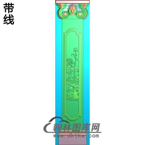 柱头菊花柱板精雕图(ZB-050)